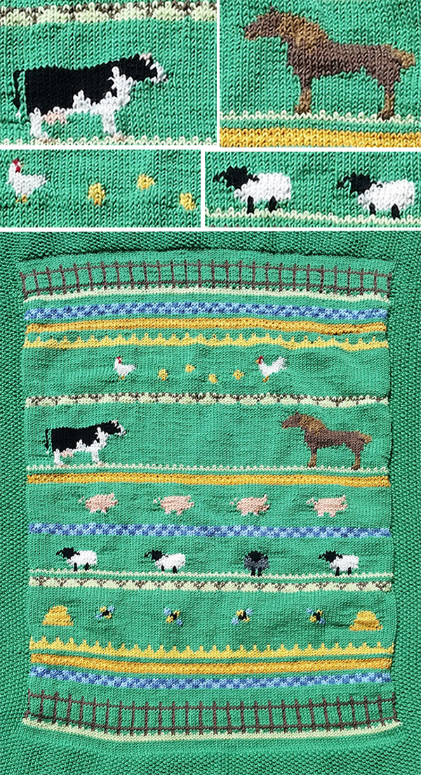 Free Knitting Pattern for Ingrid's Baby Blanket