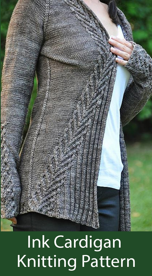 Knitting Pattern for Ink Cardigan