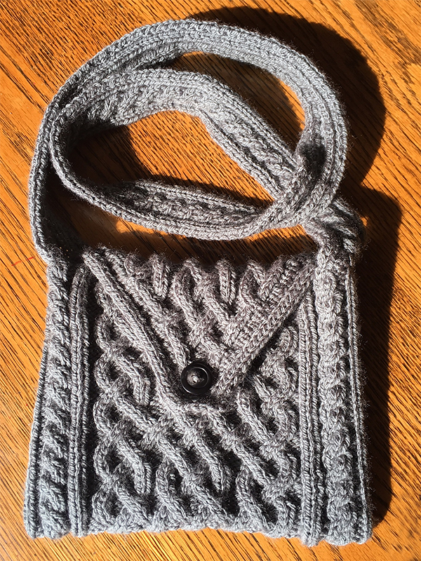 Free Knitting Pattern for Interlace Bag