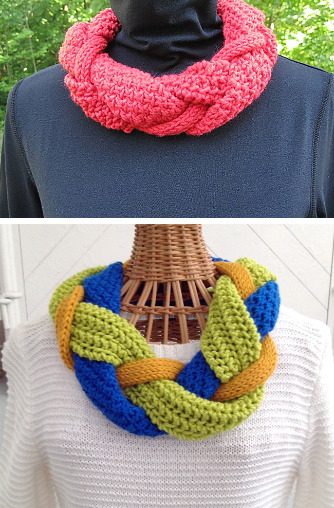 Free Knitting Pattern for Intertwisted Cowl