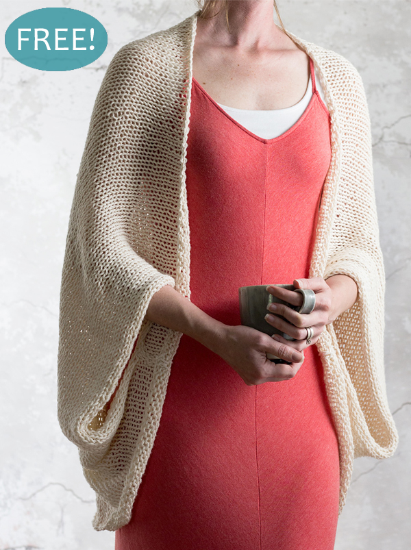 Free Knitting Pattern for Easy Introspection Shrug