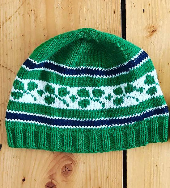Free Knitting Pattern for Ireland Rugby Hat