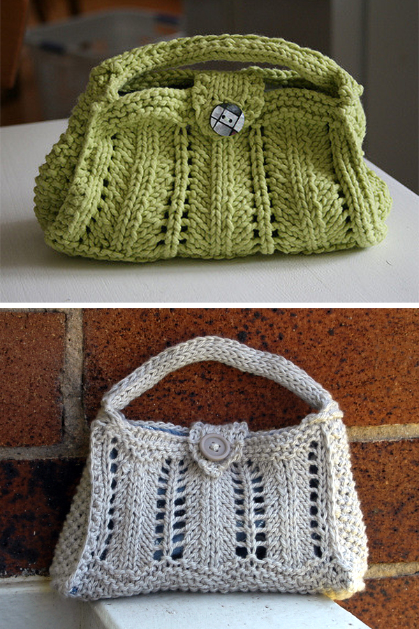 Free Knitting Pattern for Isabeau Purse