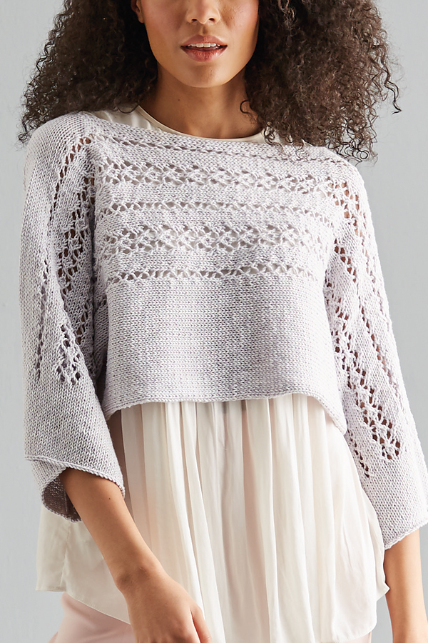 Knitting Pattern for Isabella Lace Top