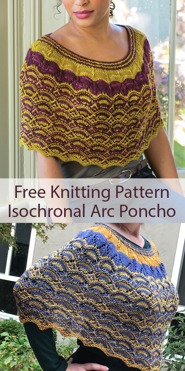 Free Knitting Pattern for Isochronal Arc Poncho