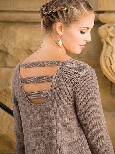 Knitting Pattern for It's All About the Back Pullover