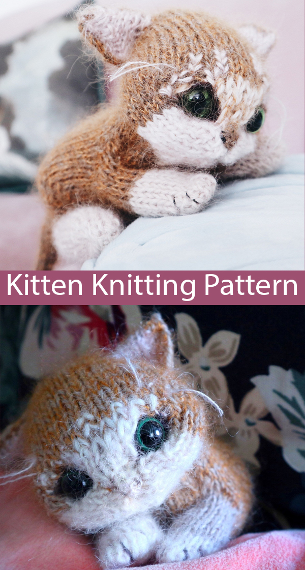Knitting Pattern for  Itty Bitty Kitty Toy