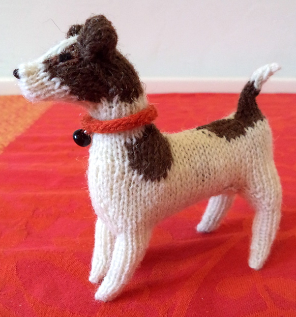 Free Knitting Pattern for Jack Russell Toy Dog