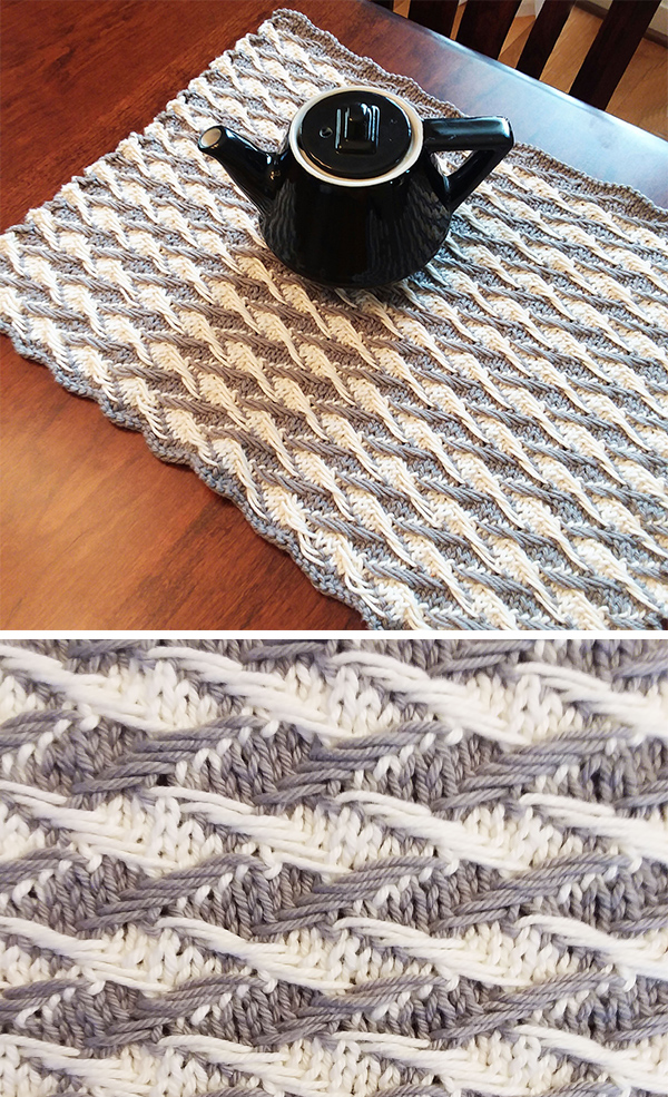 Knitting Pattern for Jacquard Placemat