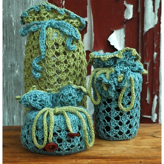 Knitting pattern for Jammies knit gift bags and more gift wrap knitting patterns