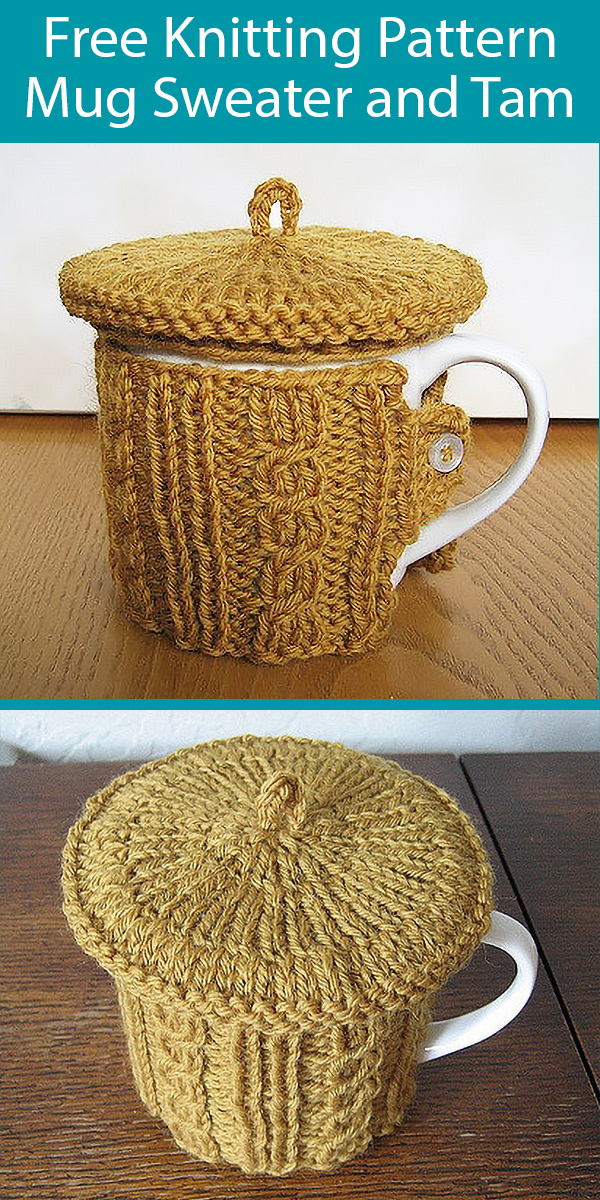Free Knitting Pattern for Mug Sweater and Tam - Great Stashbuster