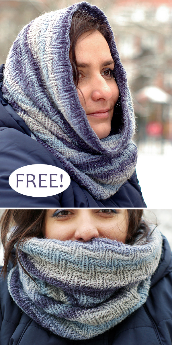 Free Knitting Pattern for Easy Jeansy Cowl