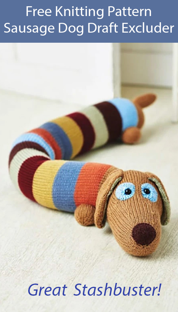 Free Knitting Pattern Sausage Dog Draft Excluder. Kit Available
