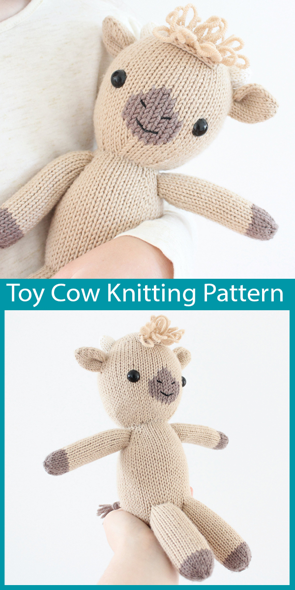 Crochet pattern Fizz the Unicorn toy approx 23cm tall