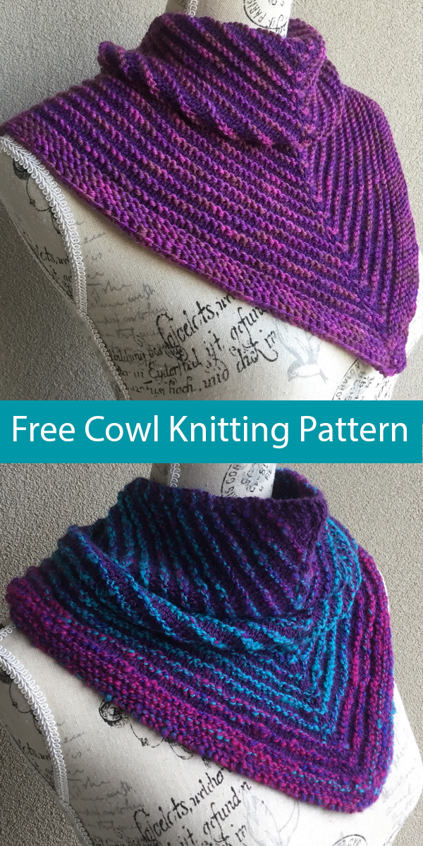 Free Knitting Pattern for Easy Jindivick Cowl