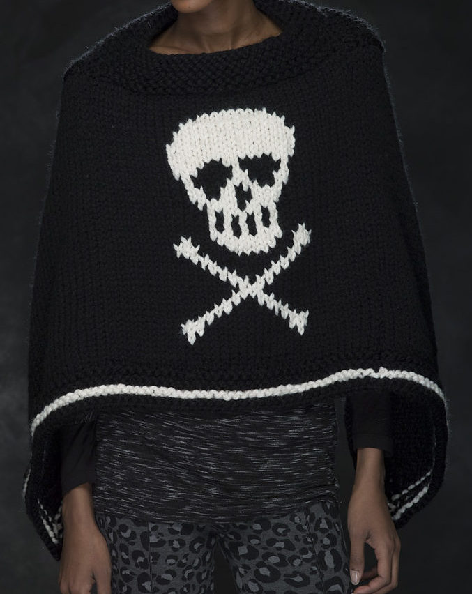 Free Knitting Pattern for Jolly Roger Poncho