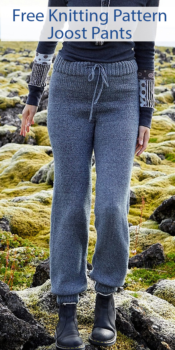 Free Knitting Pattern for Joost Pants Sizes S to 2X