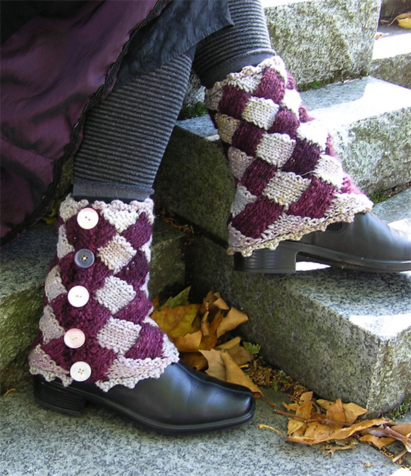 Free Knitting Pattern for Josephine's Spats