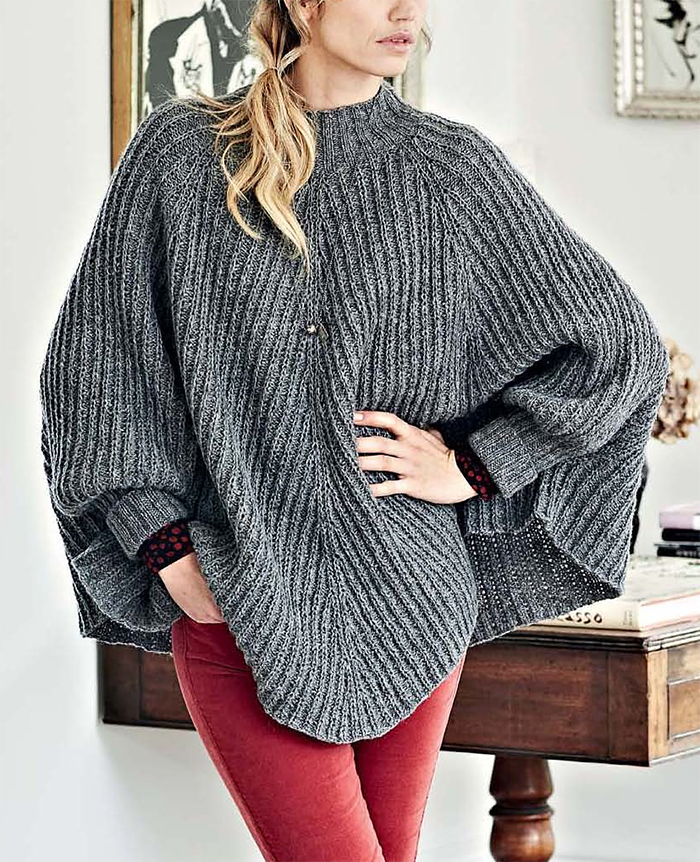 Knitting Pattern for Josina Poncho
