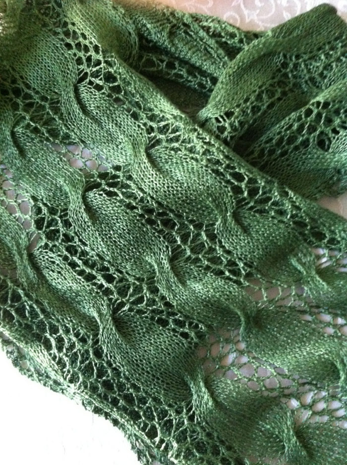 Free Knitting Pattern for Easy Jubilee Scarf