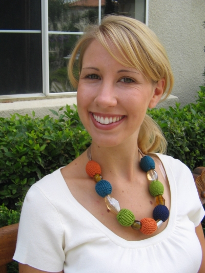 Julie Statement Necklace Free Knitting Pattern
