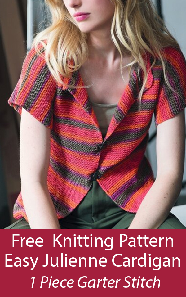 Free Knitting Pattern for Easy Julienne Cardigan