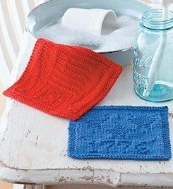Knitting Patterns for Patriotic Dish Cloths