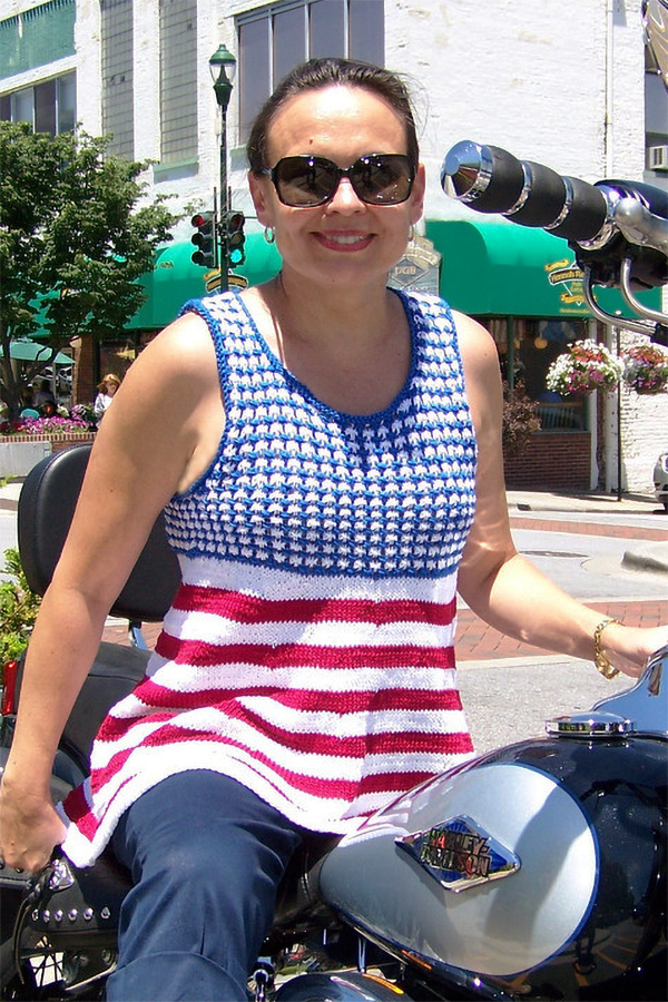 Knitting Pattern for Fourth of July Tank