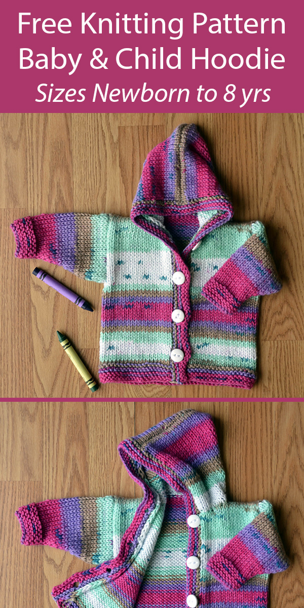Free Baby Knitting Pattern for Jump for Joy Hoodie