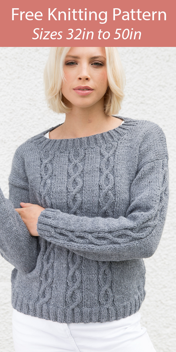Free Knitting Pattern Cable Pullover Sweater