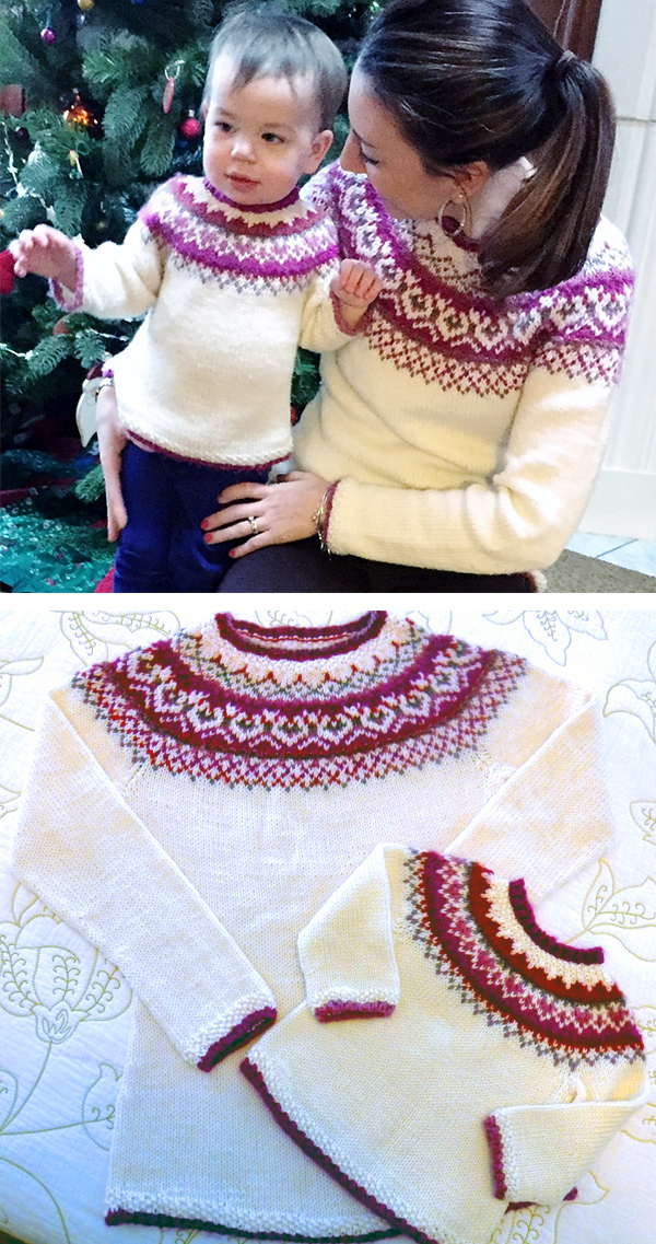 Knitting Pattern for Just Me and My Mom Sweaters