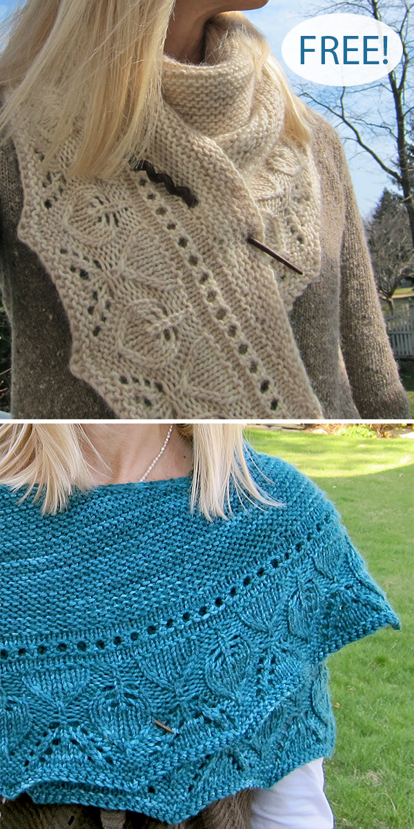 Free Knitting Pattern for Ka'ana Shawlette
