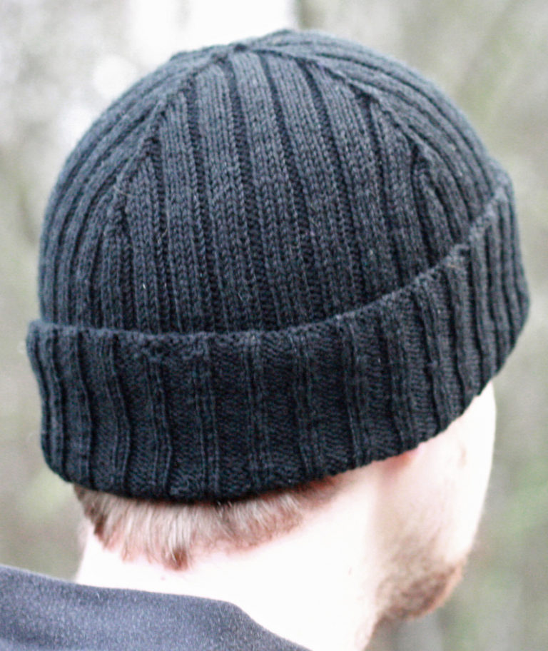 Free Knitting Pattern for Reversible Rib Cap