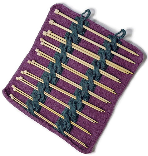 Free knitting pattern for Knitting Needle Holder and more knitting patterns for crafters