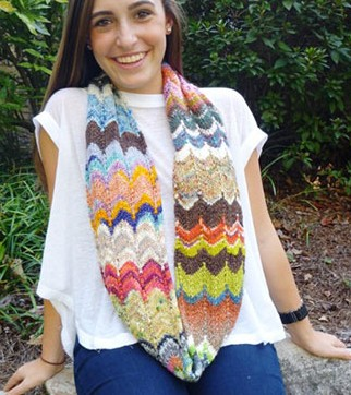 Knitting patterns for Kaleidescope Tube Cowl and more stash buster knitting patterns