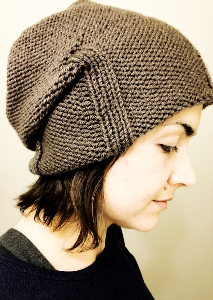 Free Knitting Pattern for Kami Slouchy Hat
