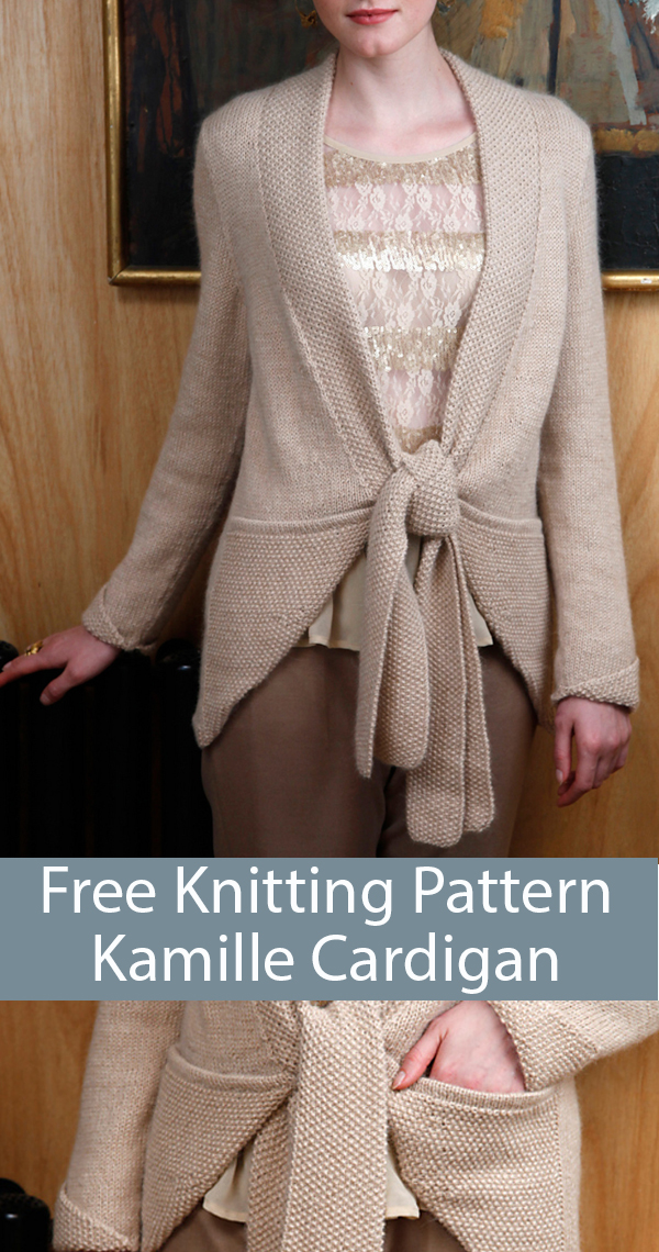 Free Knitting Pattern for Kamille Cardigan
