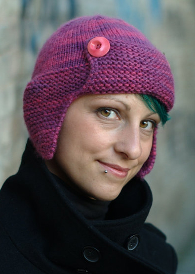 Knitting pattern for Karenin Aviator Hat with Ear Flaps bc37dbbb7fff