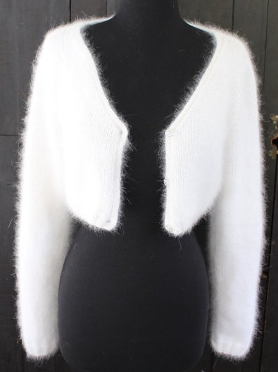 Knitting pattern for Kate Middleton Angora Wedding Shrug