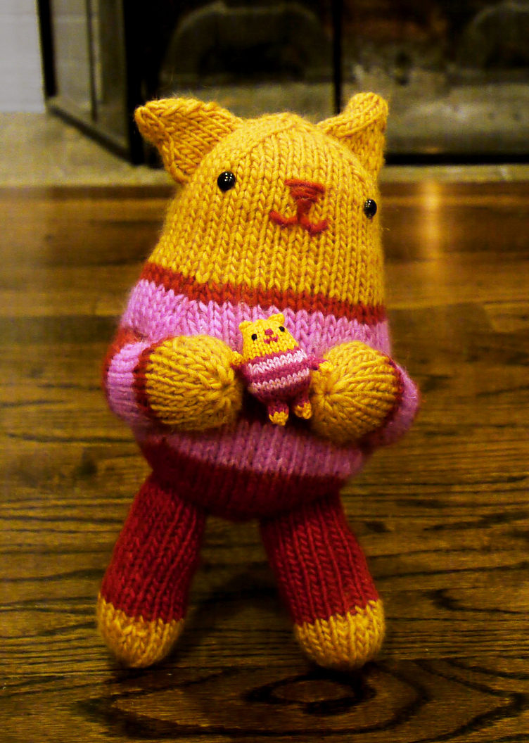 Free Knitting Pattern for Kate's Kitten