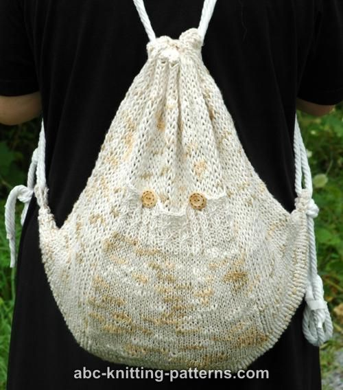 Free Knitting Pattern for Katia Backpack