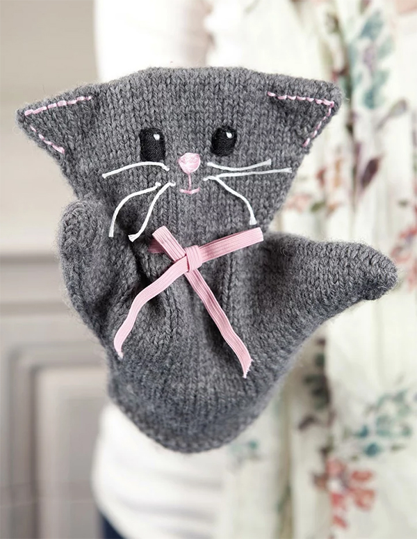 Knitting Pattern for Katie Kitty Puppet