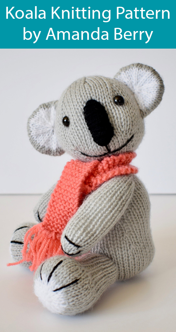 Knitting Pattern for Koala by Amanda Berry