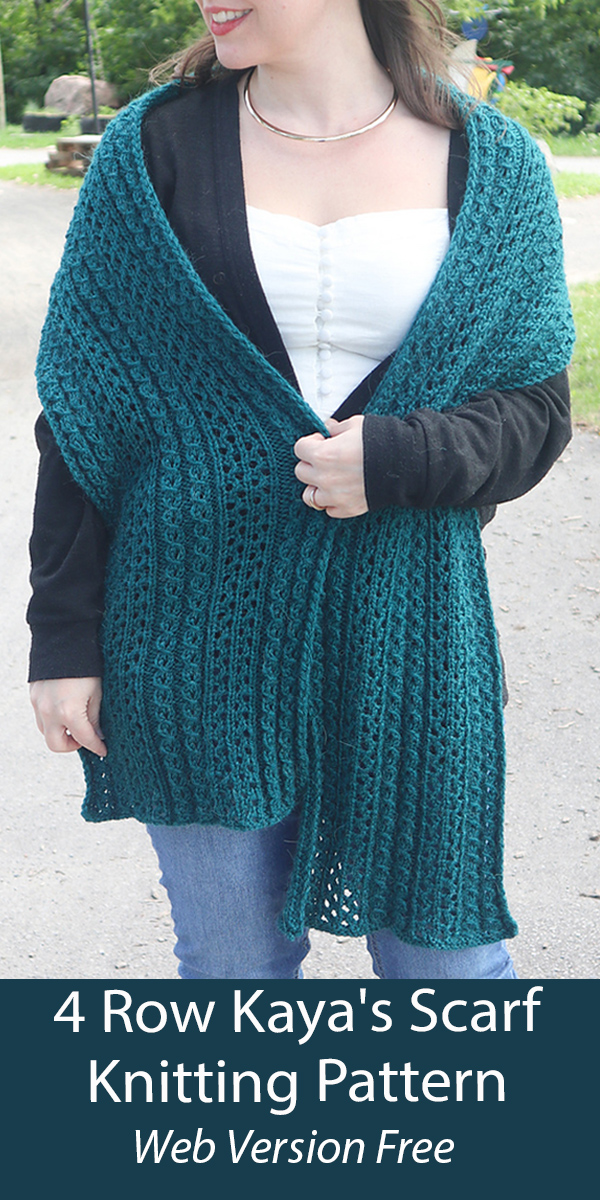 Free Scarf Knitting Pattern 4 Row Repeat