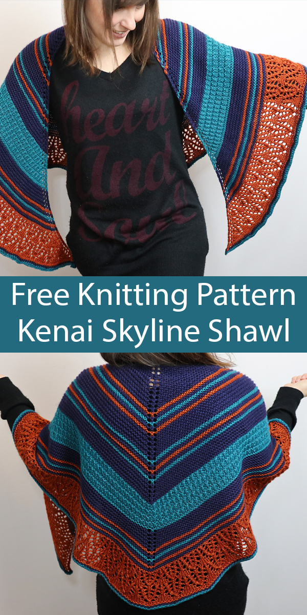 Free Shawl Knitting Pattern for Kenai Skyline Shawl
