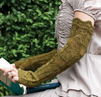 Knitting for Kensington Mitts long with horseshoe lace and more wristwarmer knitting patterns