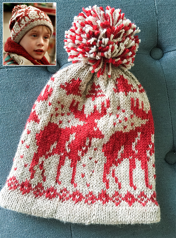 Free Knitting Pattern for Home Alone Moose Hat
