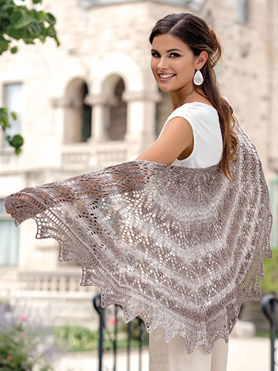 Knitting Pattern for Keystone Shawl