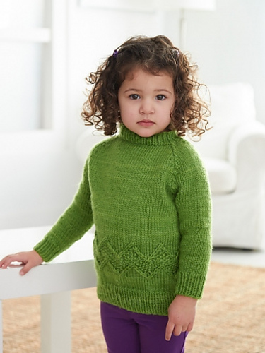 Free knitting pattern for Chevron Band Pullover Sweater for children and more chevron stitch knitting patterns