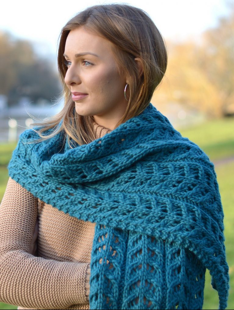 Knitting Pattern Kinvara Wrap